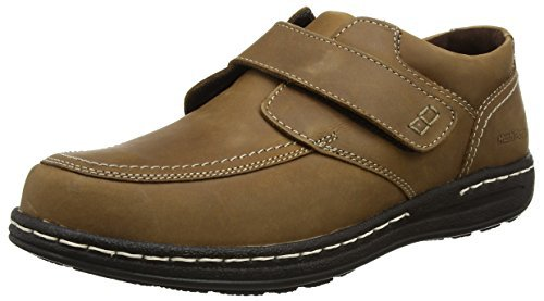 Hush puppies. VINCE VICTORY. VELCRO EASY ON. BROWN. Sizes: 13. 14.