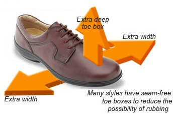 extra wide casual shoes